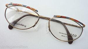 """56-16""""m"""" Lassen Sie Unsere Waren In Die Welt Gehen Brillenfassungen Beauty & Gesundheit Brillengestell Brille Damen Große Metallfassung Mit Buntem Oberrand Gr"""