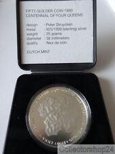 Coin / Munt Netherlands 50 Gulden 1990 FDC 100 Jaar Vorstinnen