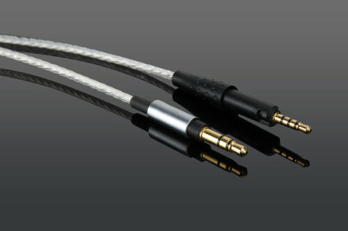 Upgrade Silver Plated Audio Cable For Sennheise HD6 HD7 HD8 DJ MIX HEADPHONES