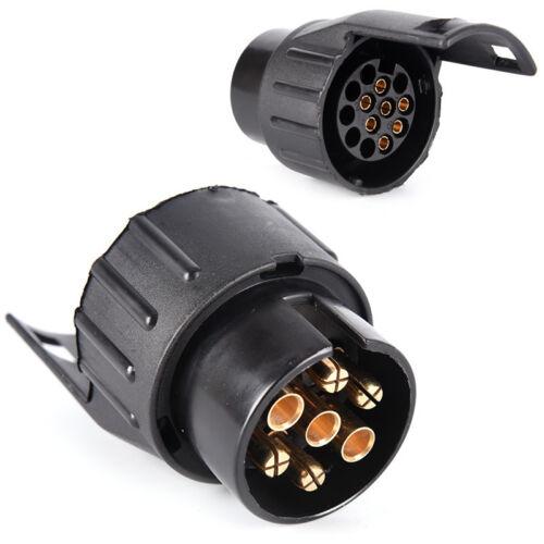 13 Pin To 7 Pin Plug Adapter Car Trailer Truck Caravan  Towbar Socket TYUK