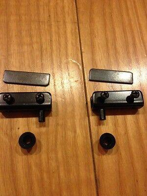 100 PAIR BLACK CABINET INSET GLASS DOOR STRIKER PIVOT HINGE SET STANDARD MOUNT