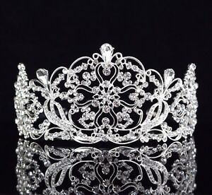 Daisy-Clear-Austrian-Rhinestone-Crystal-Tiara-Crown-Bridal-Pageant-Prom-Wed-T14
