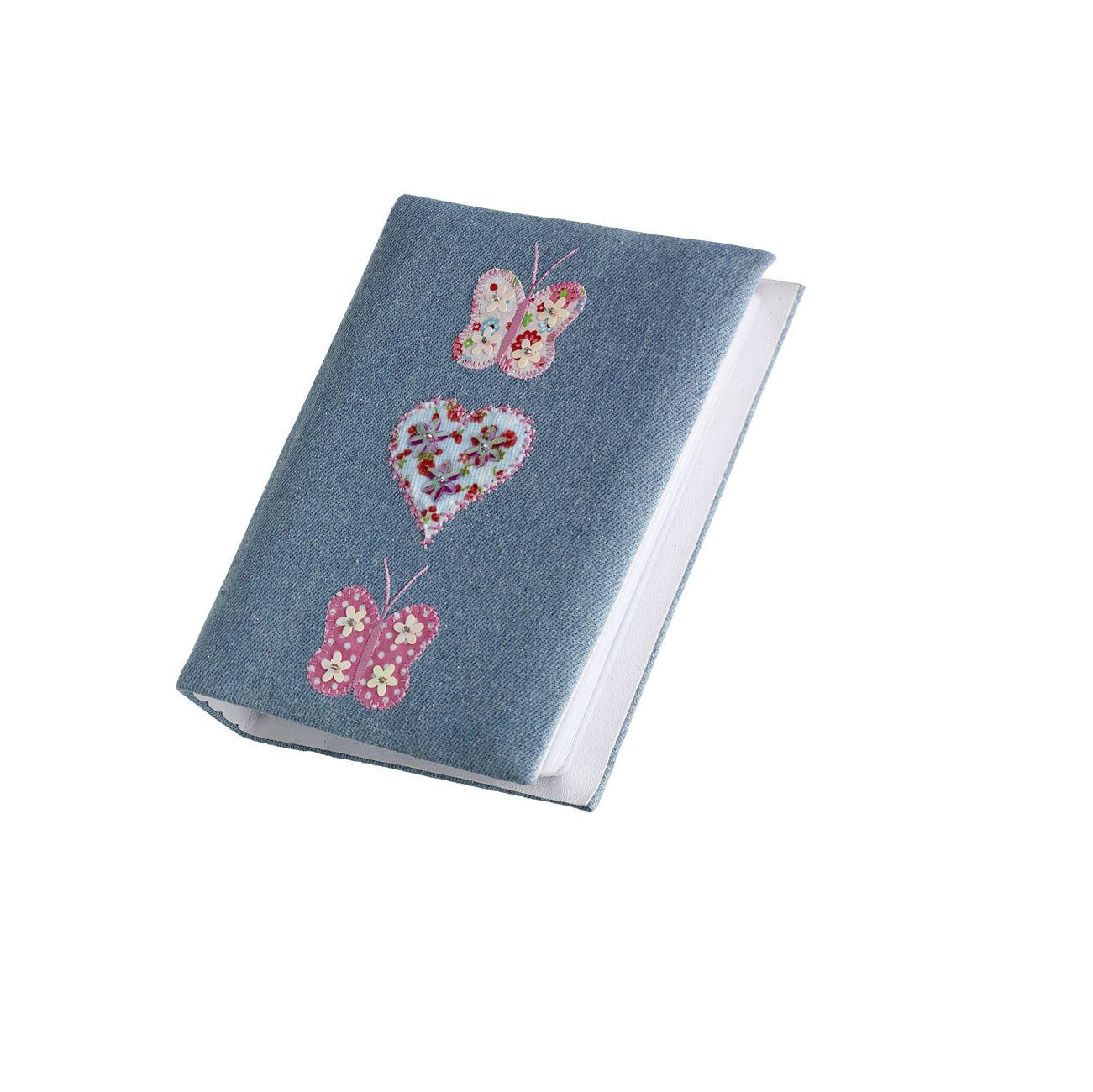 25 X Restposten Mädchen Denim Schmetterlings Foto Album Party-Tasche PA-7551 von
