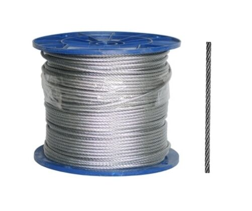 7 Größen Stahlseil Drahtseil verzinktes Seil Draht 1x19 6x7 6x19 ab 2mm bis 8mm