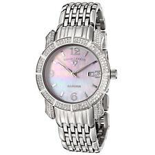 New Swiss Legend Marquise Diamond Stainless Steel MOP Dial SL-23024-WMOP Watch