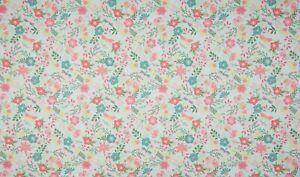 Baumwolle-Poplin-Druck-Quality-Textiles-Blumenmuster-Mint-145-cm