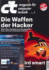c't Magazin, Heft 7/2017 vom 18.3.2017: Die Waffen der Hacker  +++ wie neu +++