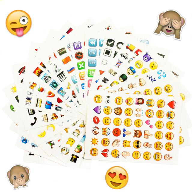 Emoji Sticker 960 Stück Aufkleber XXL Emoticons Whats App