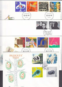 1999 COMPLETE COMMEMORATIVE FDC ( 13 ) YEAR SET