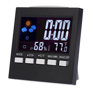 Digital-Uhr-Wecker-Funk-Wetterstation-Thermometer-Hygrometer-LCD-Farbdisplay-HOT