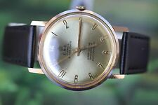 GREAT VERY BIG GOLD-PLATED SWISS E.R.C. DELUXE WATCH 17 JEWELS!