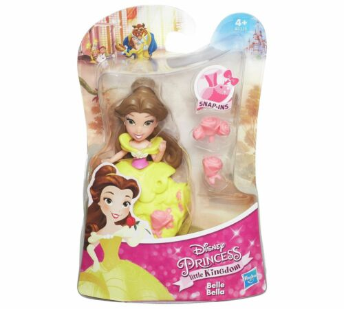 "Disney PRINCESS Little KinGdom Snap-in 3/"" poupées Mulan Pocahontas Aurora Belle"