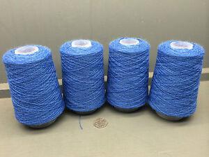 2X200G 2//18NM 83/% WOOL 17/% NYLON YARN BLUE