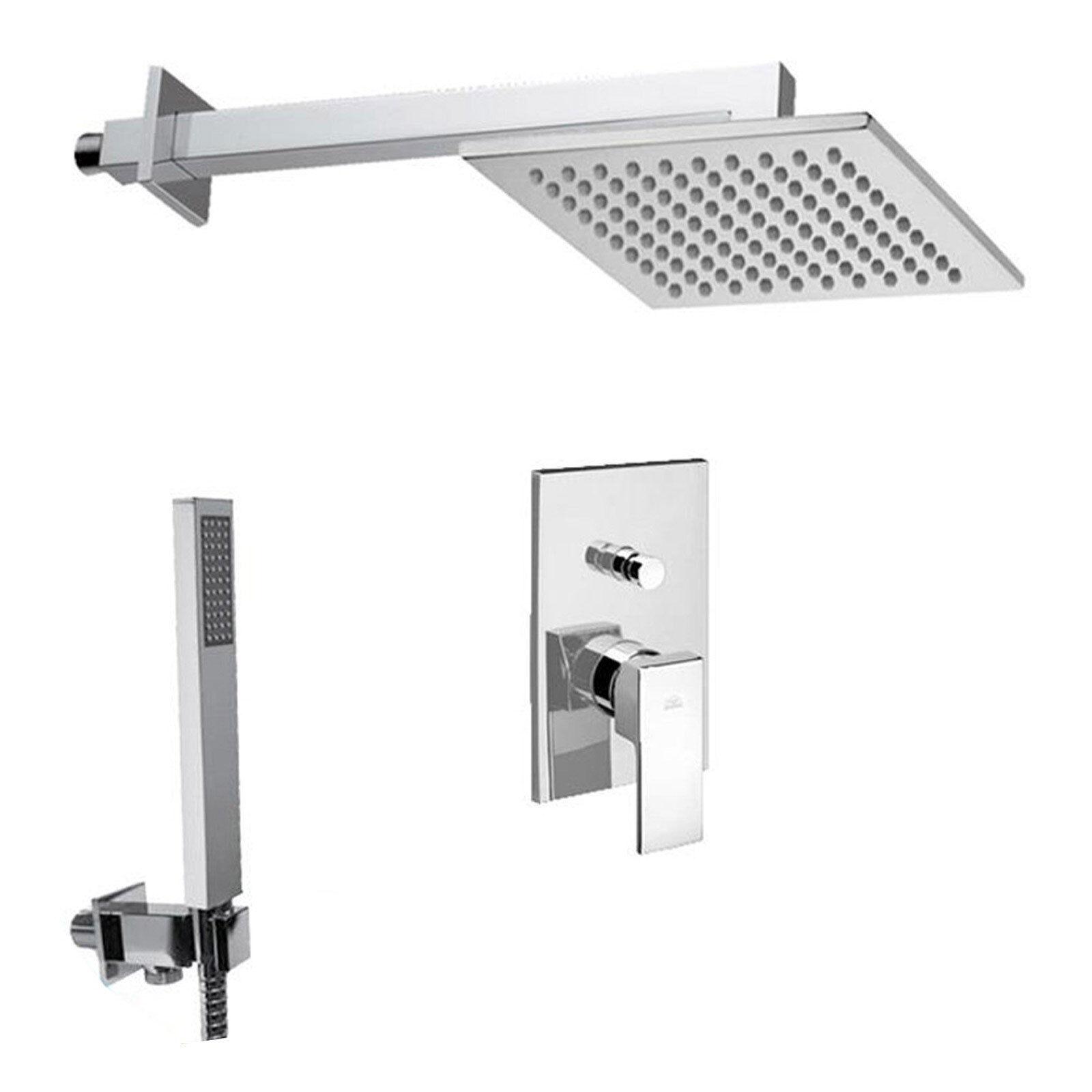 Set doccia composto da miscelatore con deviatore Paffoni Level, soffione e docce