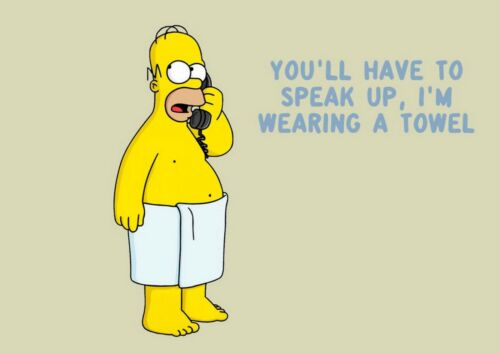 Funny Homer Simpson Quote The Simpsons Sitcom Towel Telephone Print Comic Poster