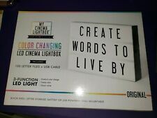 My Cinema Lightbox The Original Color Changing Led Marquee With 100 Letters Usb