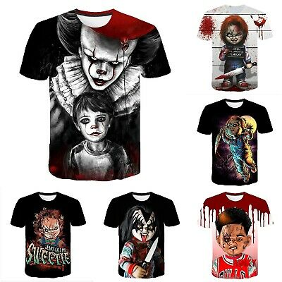 Horror Halloween Costume Chucky Cosplay T-shirt 3D Print ...