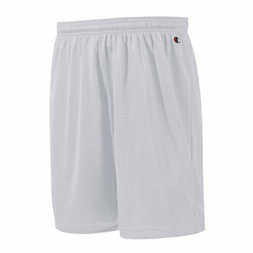 NEW Champion Mens Size S-3XL Athletic Long Mesh Pocket Gym Shorts 9 Inseam Grey