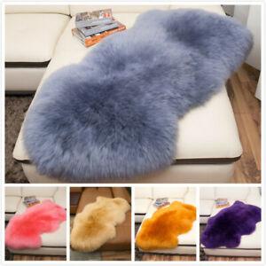 Genuine Sheepskin Fur Area Rug Fluffy Living Room Hairy Carpet 100/% Natural Warm