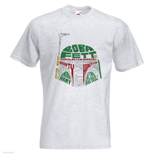 Boba Fett Para hombre Printed T-Shirt texto películas Star Wars cazarrecompensas Guerrero