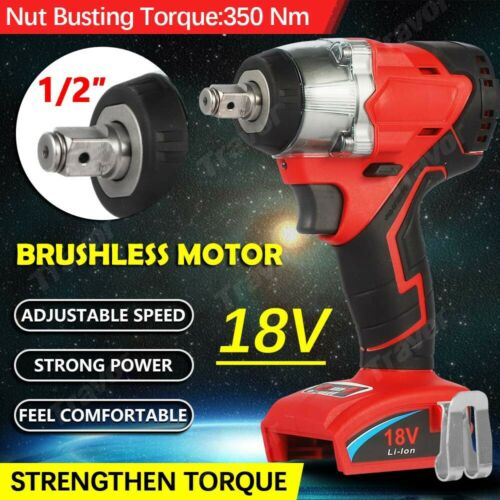 18Volt 1//2-Inch Brushless Cordless Impact Wrench Bare Tool For Bosch IDH182B