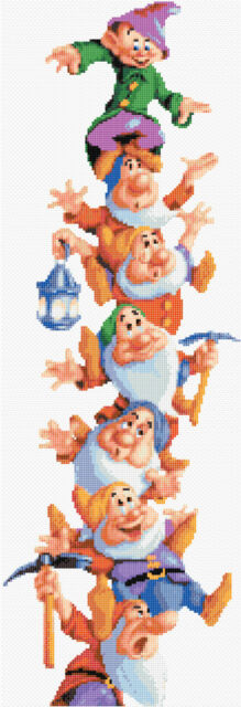 "Snow White -The Seven Dwarfs - Tall Disney Cross Stitch Kit 22"" x 8"" Free P&P"
