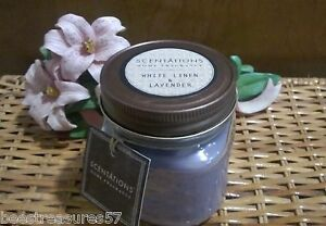WHITE-LINEN-amp-LAVENDER-Very-Popular-Scentations-Vintage-Mason-Jar-Candle-8oz