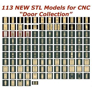 113-NEW-Doors-3d-STL-Models-for-CNC-Router-3d-Printer-Artcam-Aspire-Cut3d