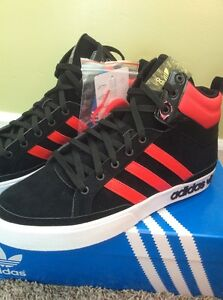 Details about Adidas Originals Top Court Basketball Shoes G47170 Mens Sz 12 Black Suede w Red