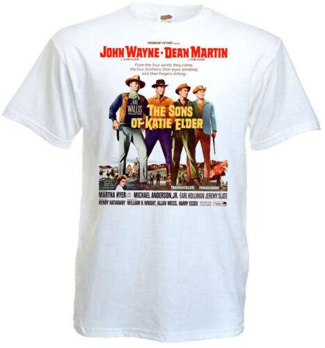Les fils de Katie Elder ver.1 T-shirt blanc Movie Poster toutes tailles S... 5XL