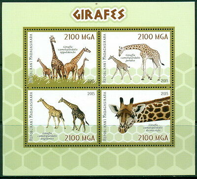 Madagascar S/s Buy One Get One Free Mnh 4val Sht Giraffes