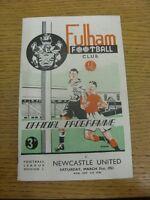 31/03/1951 Fulham v Newcastle United  (slight rusty staples, folded).  This item