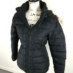THE NORTH FACE Faux Fur Trimmed Hood Black Down Insulated ...