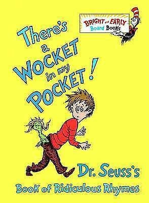 1 of 1 - Very Good, There's a Wocket in My Pocket!: Dr. Seuss's Book of Ridiculous Rhymes