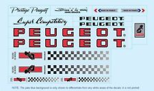 Peugeot PX10/PY10 Bicycle Decals-Transfers-Stickers Red #7