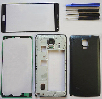 Outer Glass+Camera Bezel Frame+Battery Cover fr Samsung Galaxy Note 4 N910 N910F