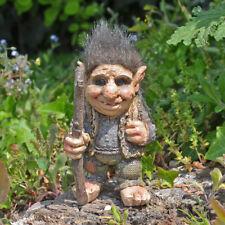 Troll Sculpture Standing Stick Small Figurine Indoor Outdoor Garden Magic 80017