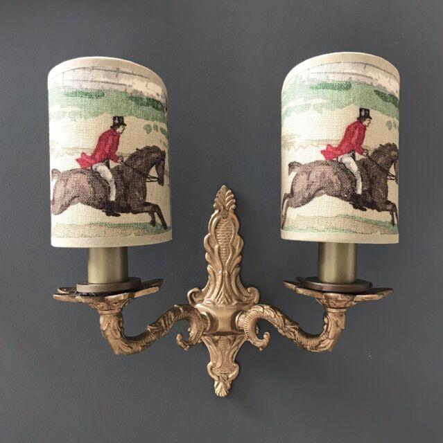 Sanderson Tally Ho Handmade Candle Clip Half Lampshade For Wall
