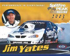 1997 Jim Yates McDonald/'s Pontiac Firebird Pro Stock NHRA postcard