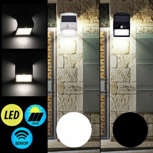 LED Wand Down Strahler Terrasse Bewegungsmelder Außen Lampe SOLAR Hof Leuchte