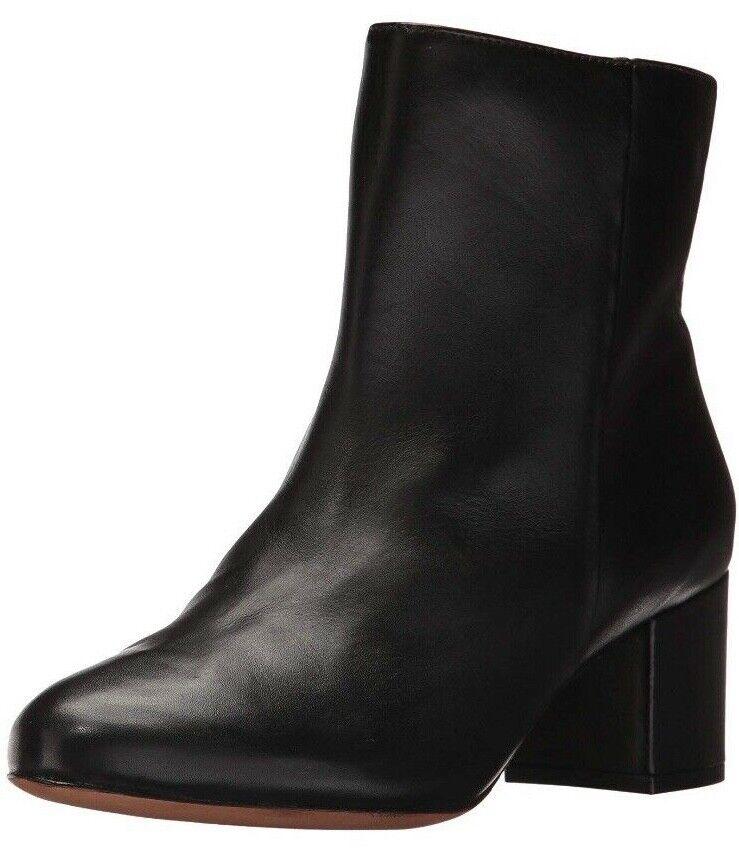 SCHUTZ Lupe 9.5 Calf Leather S2008200030035 New In Box Block Heel Go Go Stiefel