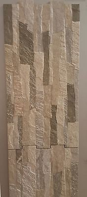 "SIMIL STONE FROM SPAIN PORCELAIN WALL  12""X 24"" INTERLOCKING"