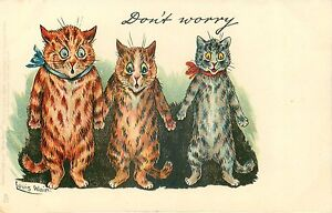 "Louis Wain Cinderella /& Her Sisters Cat Art Print Cat Decor 4 x 6/"" 16 x 24/"""