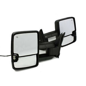 For-03-06-Silverado-Sierra-Tow-Mirror-Power-Heated-LED-Signal-Backup-Lamp-Black