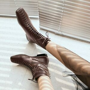 Low Heel Ankle Boots Booties Shoes OAM