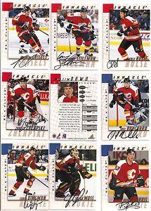 1997-98-Pinnacle-BAP-Be-A-Player-Signature-Calgary-Flames-Team-Set-11