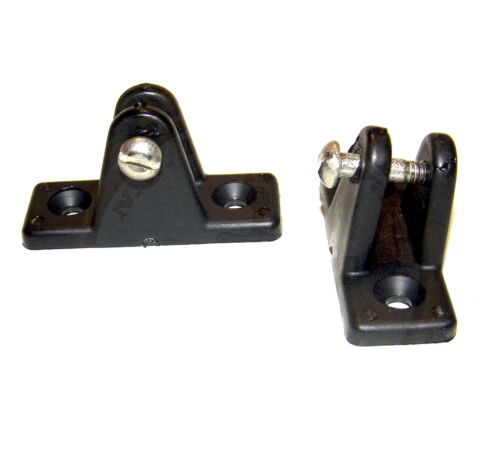 1 Pair  Shipped from The USA Deck Hinge 80 Degree Angled Black Nylon