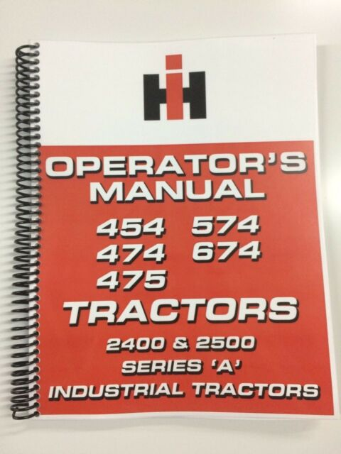 international harvester 475 tractor operators manual ebay rh ebay com Tractor Service Manuals Parts Manual