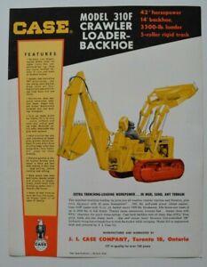 CASE-Crawler-Loader-Backhoe-310F-1960s-dealer-sheet-brochure-English-Canada