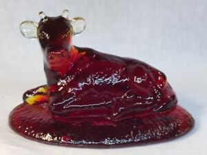 Boyd-Art-Glass-Cherry-Red-Mable-The-Cow